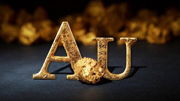 Barra de oro puro (Au)