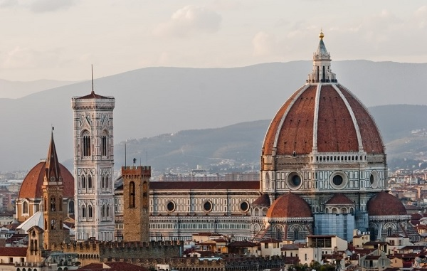Cúpula de la Catedral de Santa María del Fiore de Filippo Brunelleschi. Arquitectura renacentista