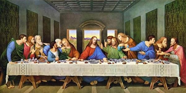 La última cena de Leonardo Da Vinci. Pintura renacentista