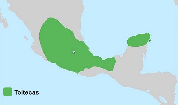 Ubicación geográfica de los Toltecas
