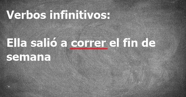 Verbos infinitivos. Ejemplos en oraciones